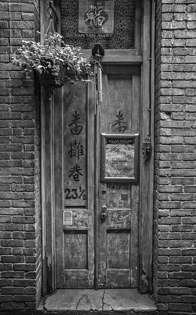 Shot in a very narrow alley on Vancouver Island. China Town ( Fan Tan Alley ) B&w Bc British Columbia Canada Chinatown Fantan Alley Vancouver Island Canada