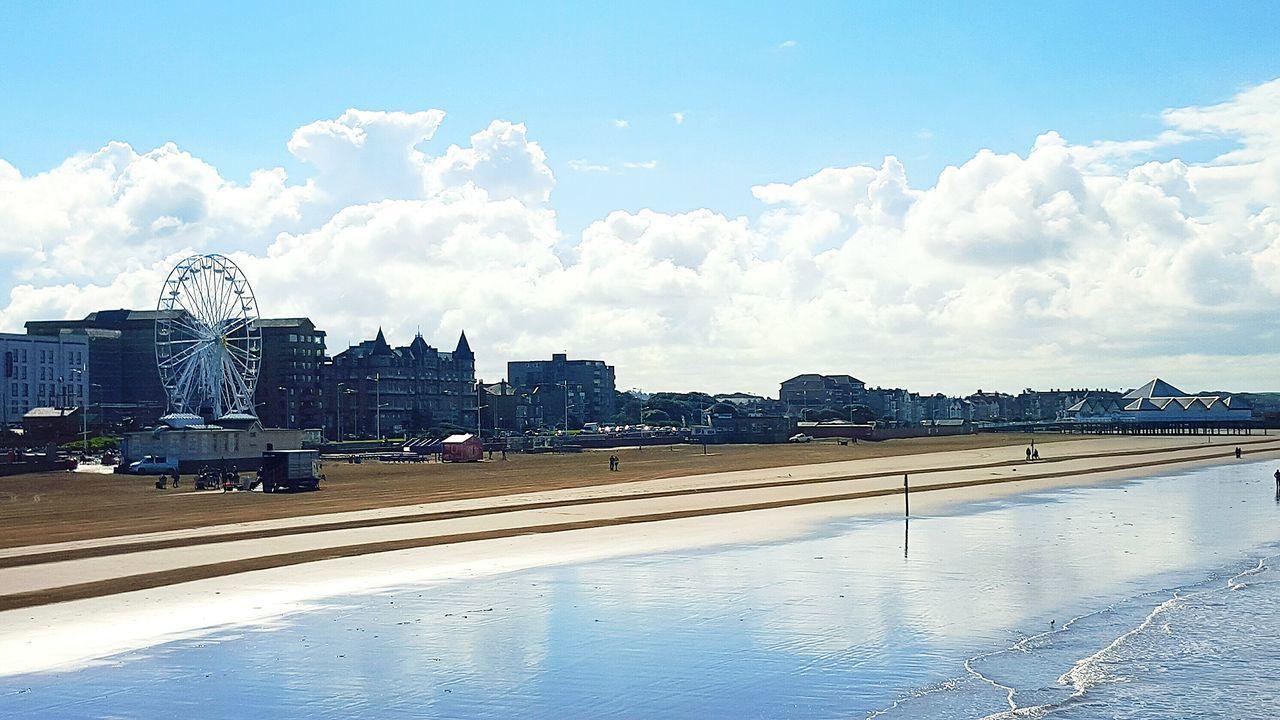 Beach Sea Clouds And Sky Landscape Sky Ferris Wheel Sky And Sea Houses By The Sea Blue Sky Clouds Waves Sandy Beach