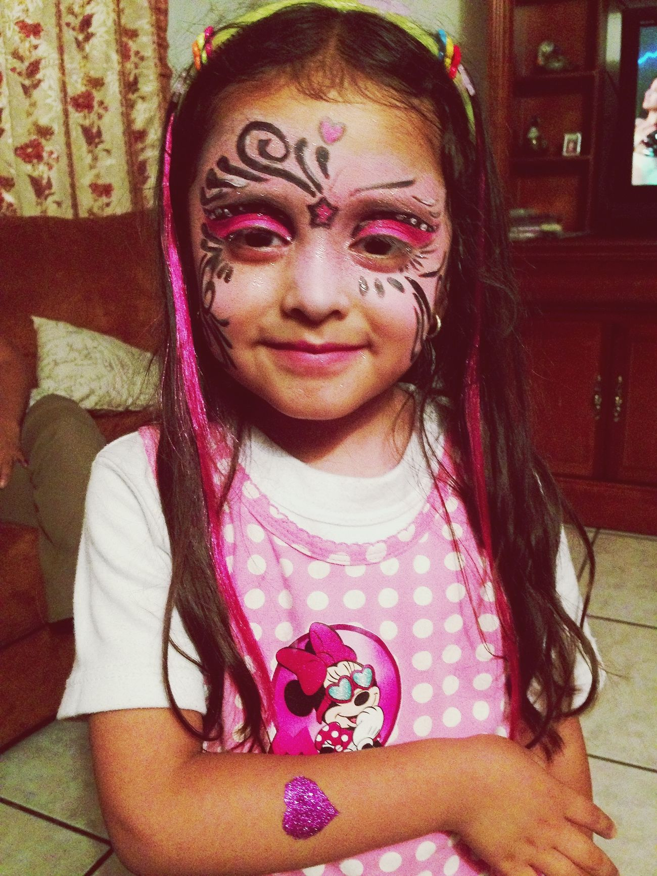 mi hermosa sobrina! yo la pinte en mi trabajo! Recorcholis!  :3