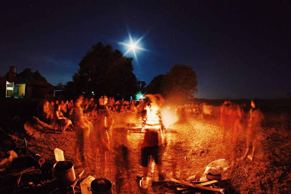 Fire Scout Campfire Night Nightphotography Long Exposure First Eyeem Photo Carnival Crowds And Details