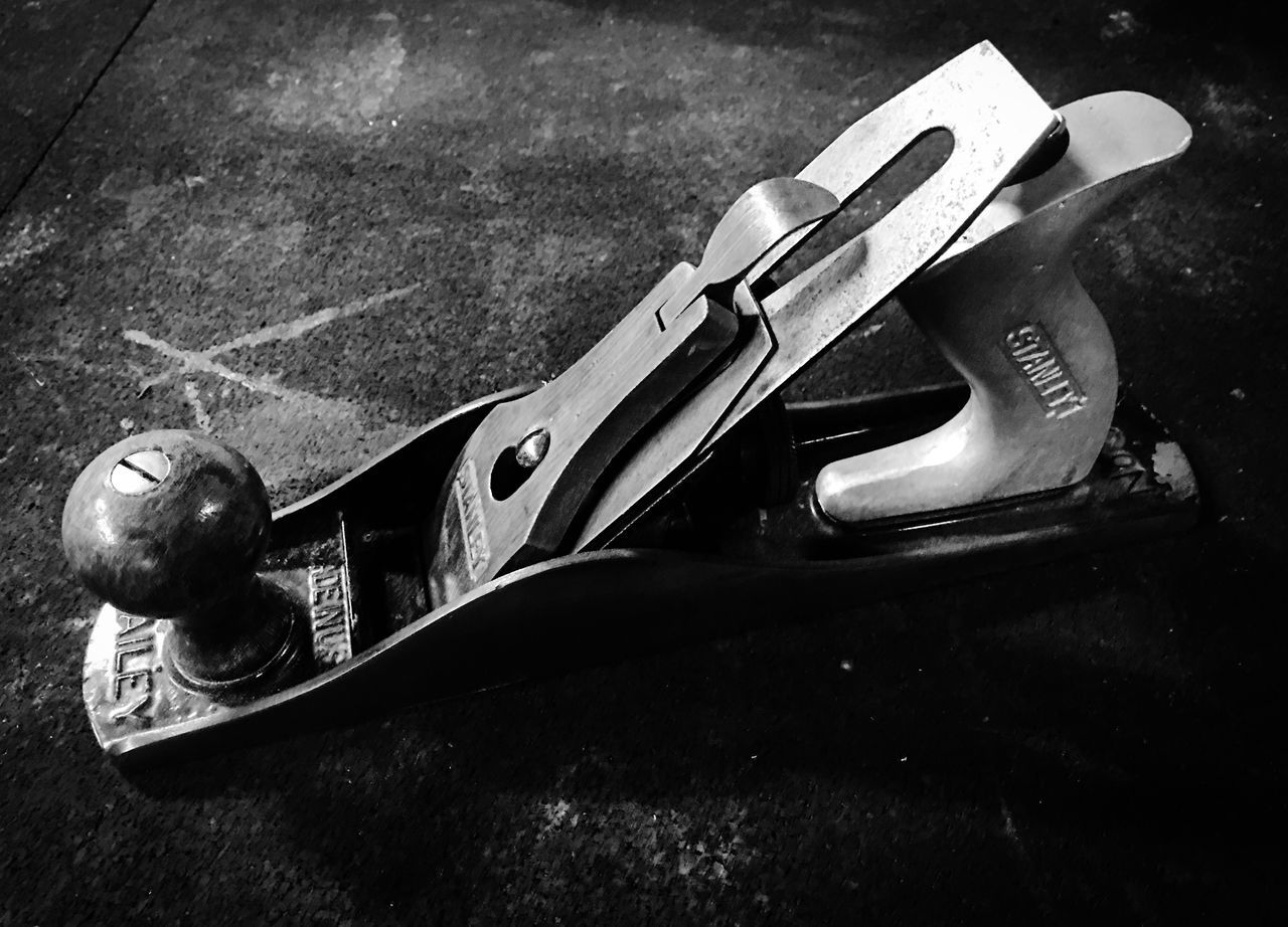 Stanley No. 5-1/4 W/ Aluminum Handle Tools Of The Trade Hand Plane Woodworking Plane Vintage Traditional Blackandwhite