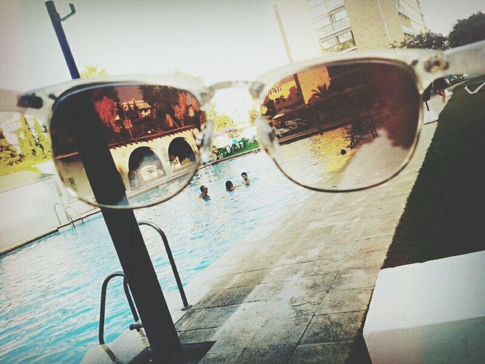 Glasses Swimming Pool SPAIN Summer