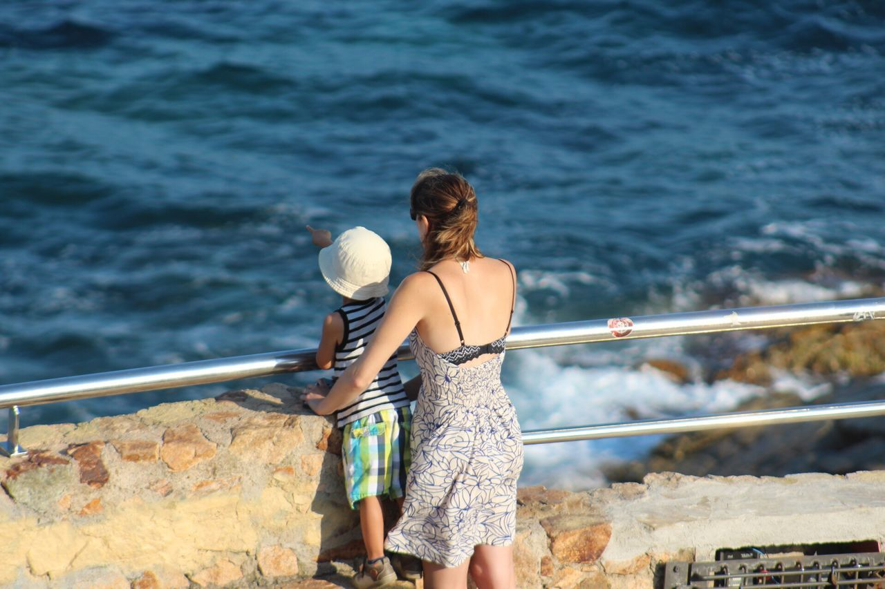 Real People Rear View Water Sea Leisure Activity Two People Lifestyles Railing Day Nature Outdoors Vacations Women Togetherness Scenics Standing Beauty In Nature Young Women Young Adult People Gironamenamora Costa Brava Lloret De Mar