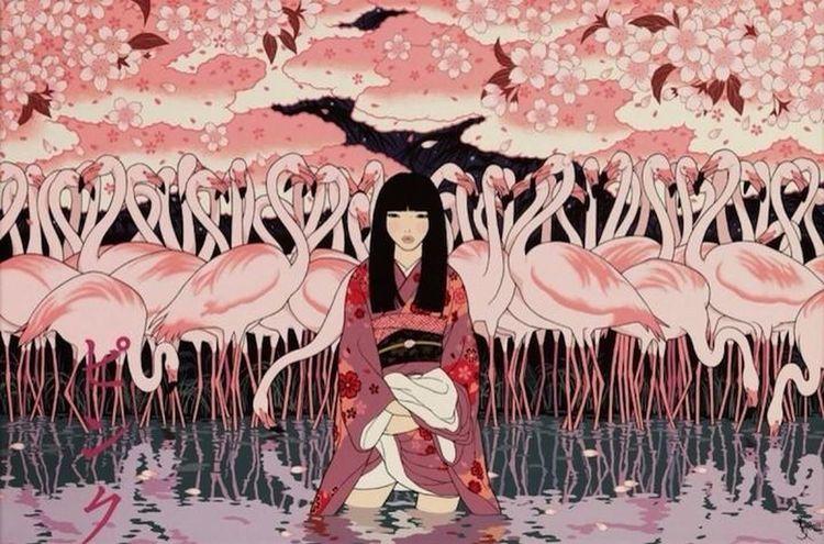 50 Shades Of Pink Japanese Girl Look At All Those Chickens Sakura