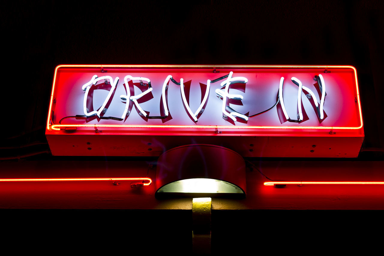 Chinese Culture Communication Drive In Illuminated Light Neon Neon Lights Night Nightlife No People Outdoors Red Sign Text