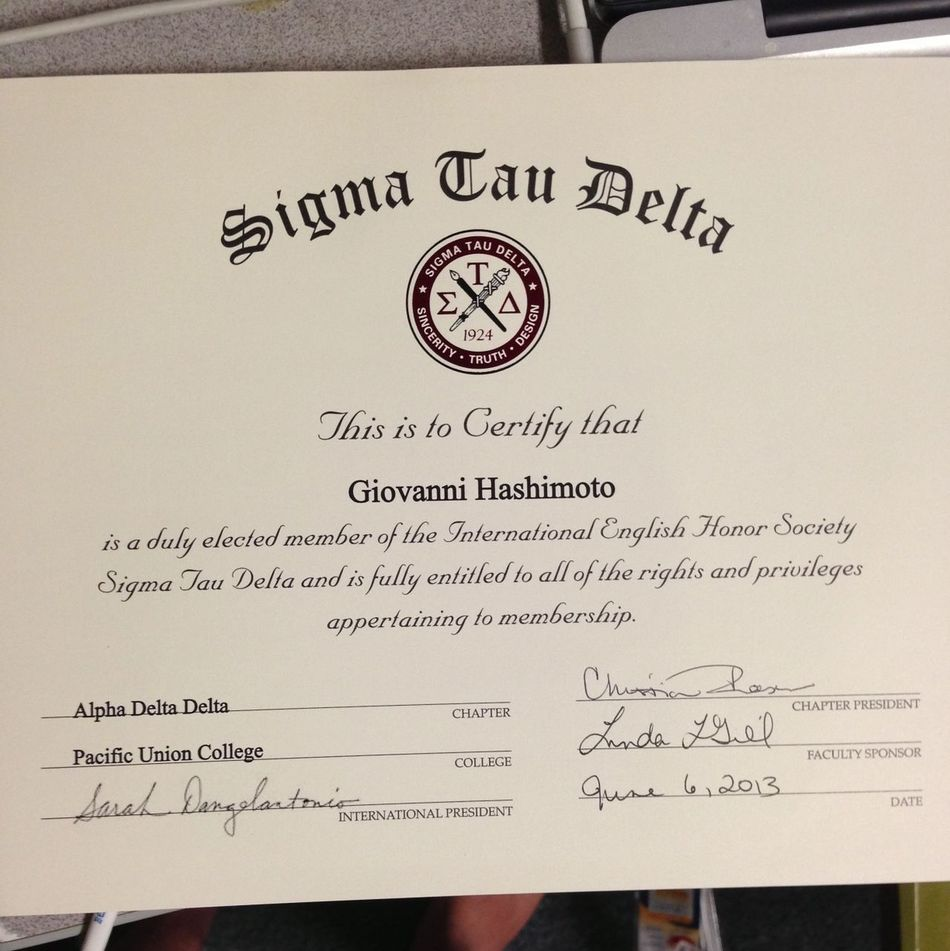 They let me in an honor society?!