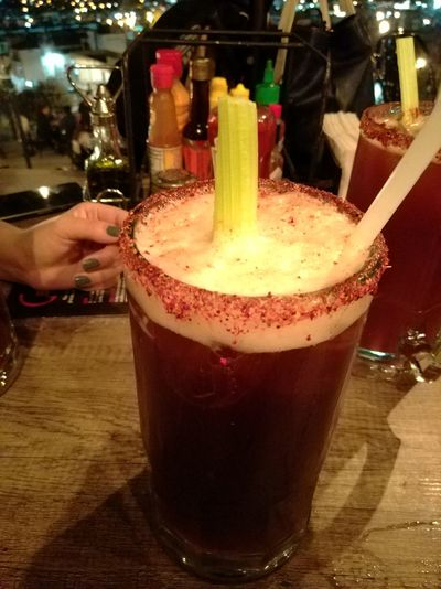Food And Drink Drink Temptation Drinking Glass Beer Beer Time Michelada Night Relax Close-up Indoors
