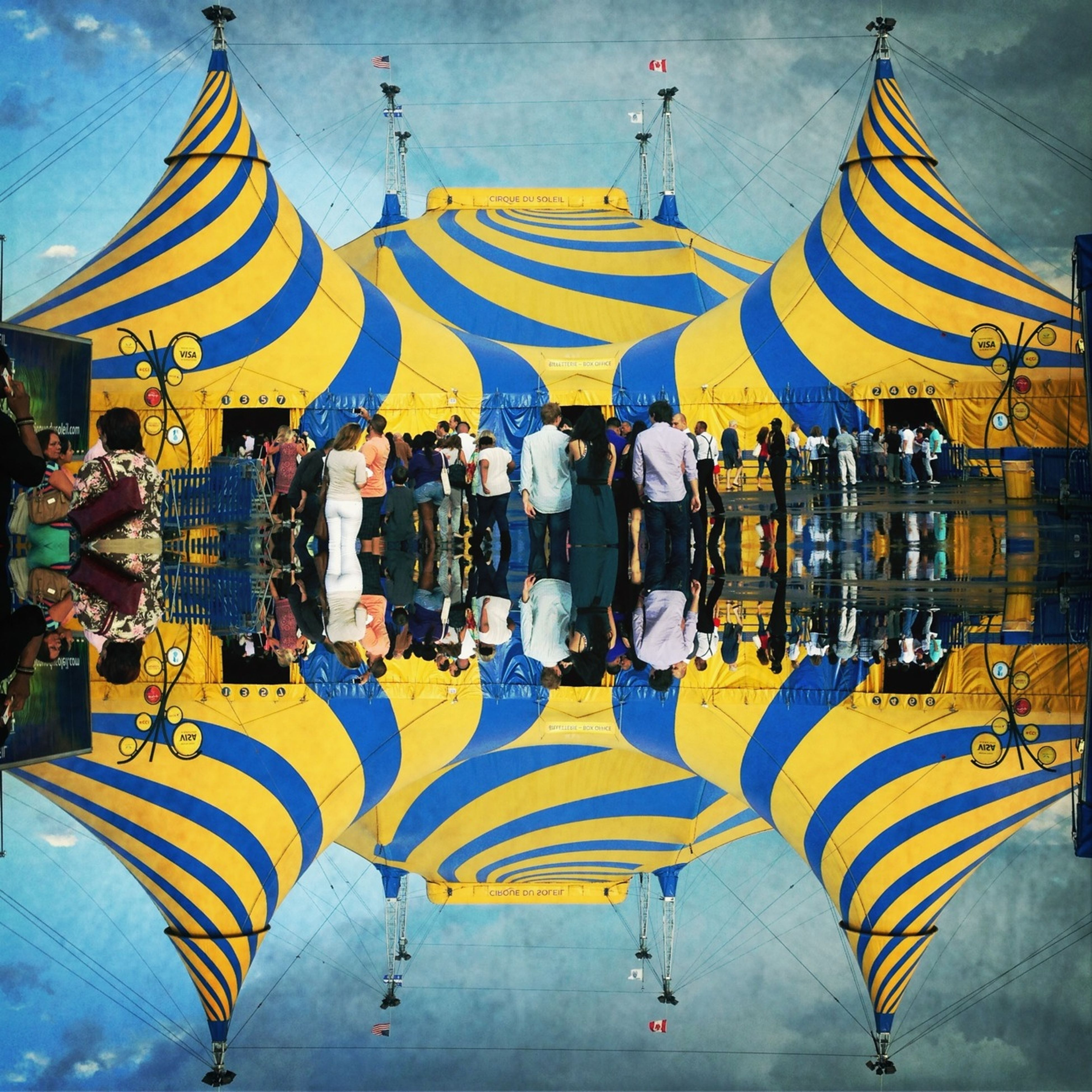multi colored, religion, umbrella, place of worship, sky, spirituality, architecture, built structure, cultures, building exterior, art, art and craft, in a row, tradition, design, colorful, pattern, outdoors, creativity, tourism