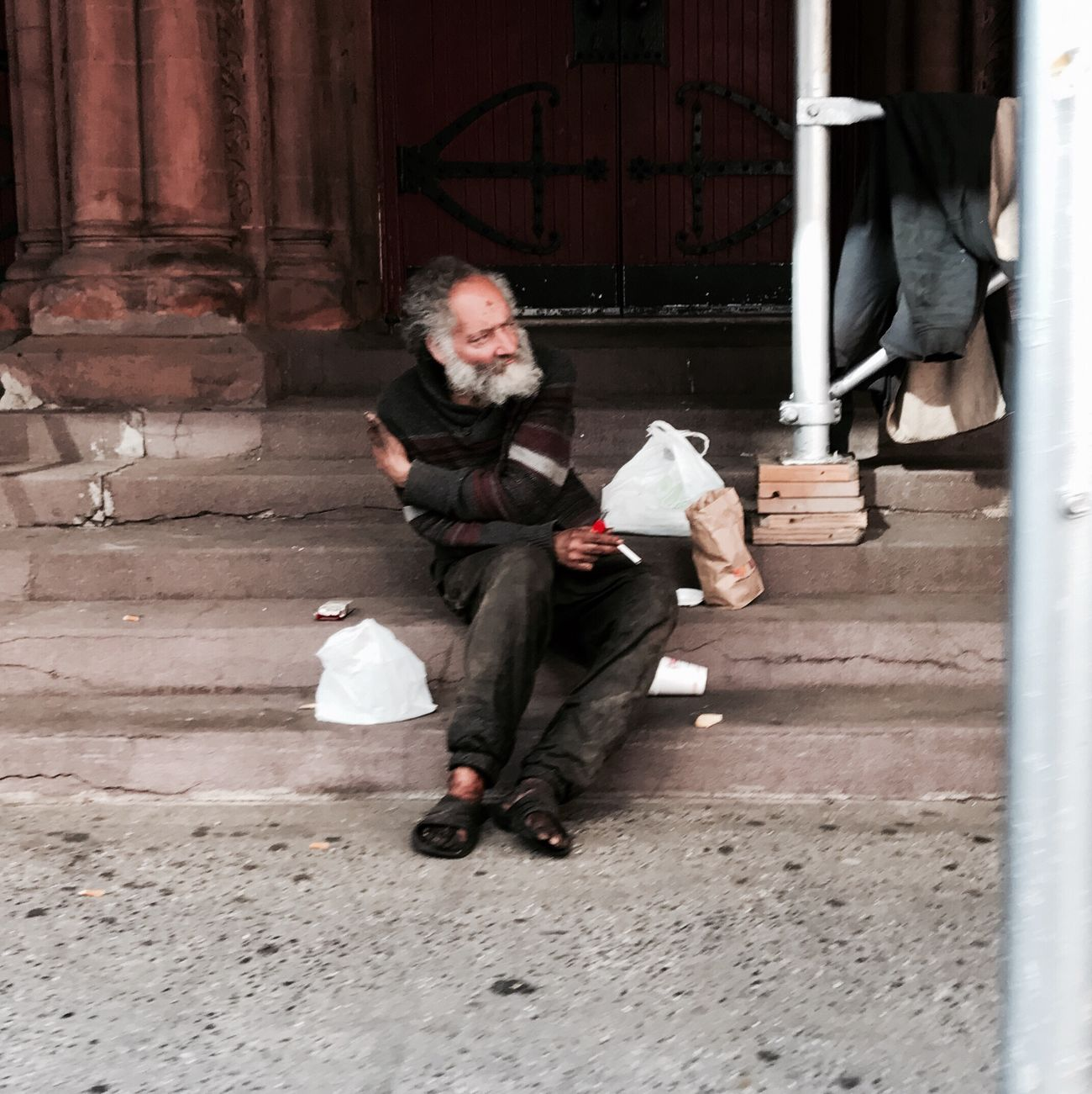 We have weapons of mass destruction we have to address here at home. Poverty is a weapon of mass destruction. Homelessness is a weapon of mass destruction. Unemployment is a weapon of mass destruction -Dennis Kucinich | #homless #manhattan #nyc #spring2017 #streetphotography #people #awareness #timyoungiphoneography #gothamsambassador