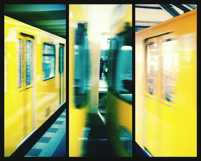 Metropolitan Tube Berlin Photo Montage Check This Out Traveling Transportation Public Transportation Yellow Speed Fast
