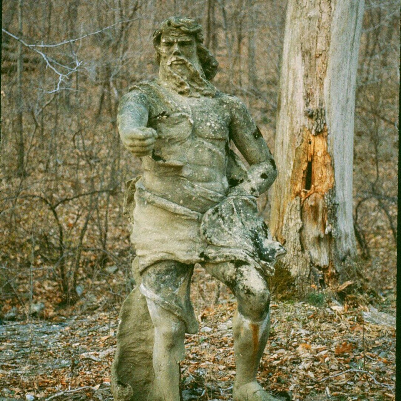 Check This Out Walking In The Woods I Was Surprised Statue In The Woods Expressive Sculpture Stone Sculpture Statue Of Zeus Very Cool ✌