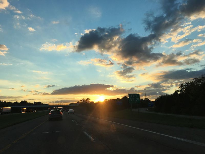 Road trip sunsets are the best sunsets for me.