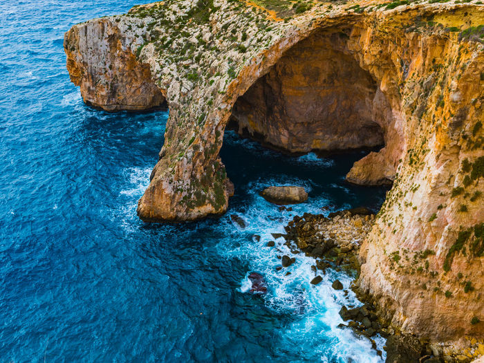 Animal Themes Beauty In Nature Blue Close-up Day Grotto Grottoes Indoors  Nature No People Rock Formation See Textured  Water