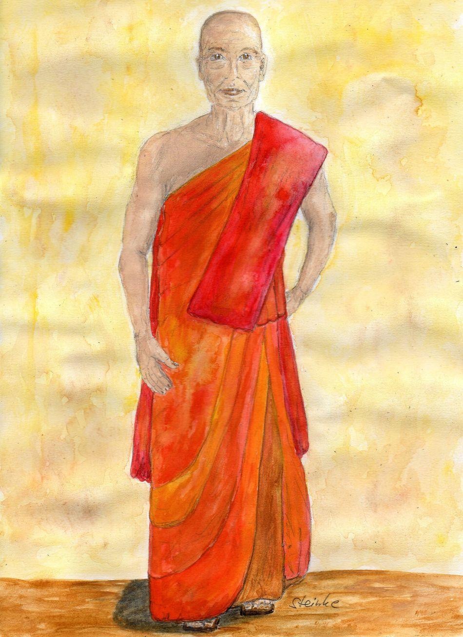 Buddhism Buddhist Buddhist Monks Buddhist Tradition Malerei Kunst Aquarell Watercolor Painting Watercolour Red Orange ArtWork Art Art, Drawing, Creativity Spirituell Drawing Zeichnung  Zeichnen Artist Enlightenment Energy Reikimaster SPIRITUAL HEALING