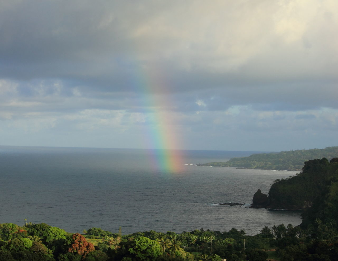 rainbow, double rainbow, scenics, beauty in nature, nature, water, cloud - sky, sky, idyllic, outdoors, tranquil scene, day, tranquility, sea, no people, multi colored, horizon over water, spectrum