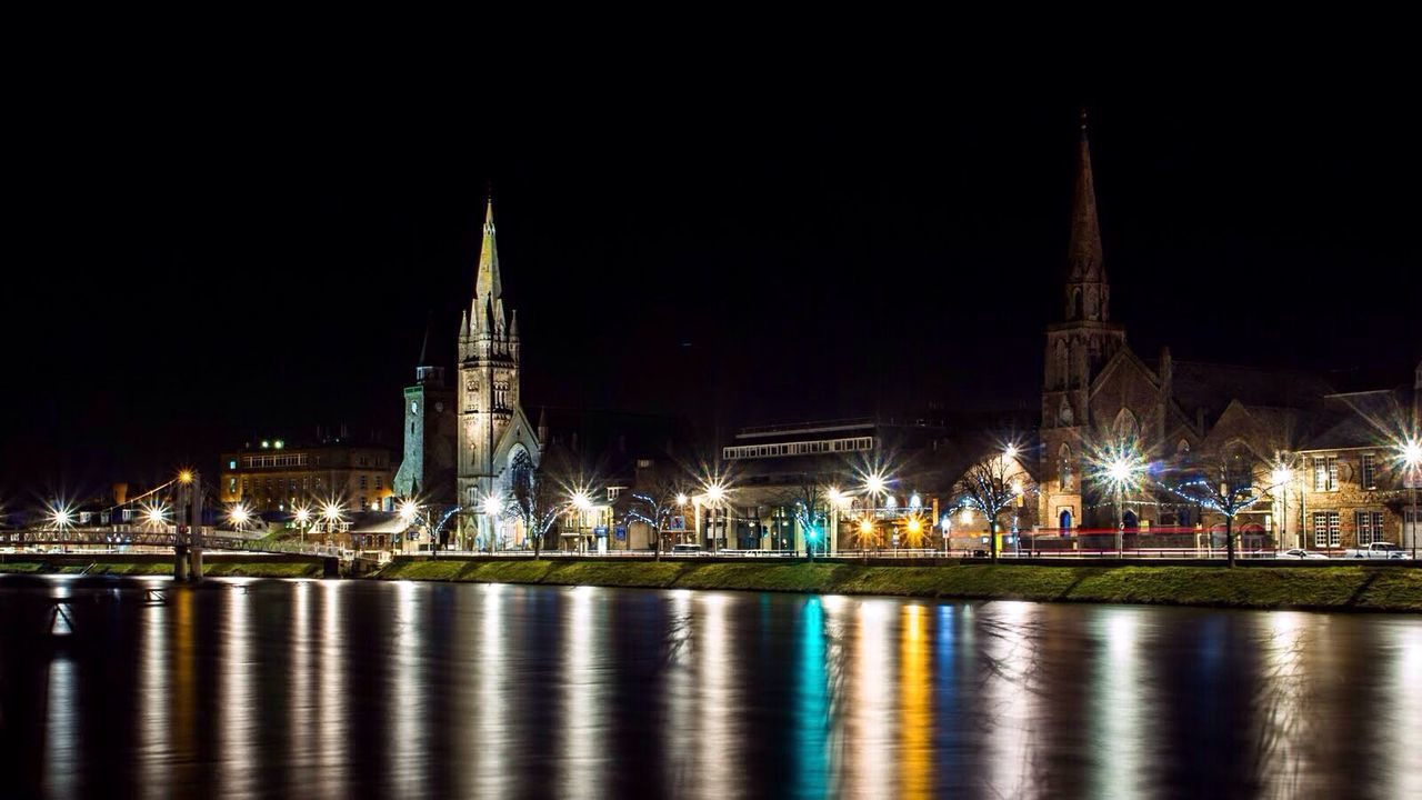 Night Lights Night Photography Inverness Photographer History Scottish Light And Shadow Landscape Landscapes Architecturelovers Building River Scottish Highlands Winter