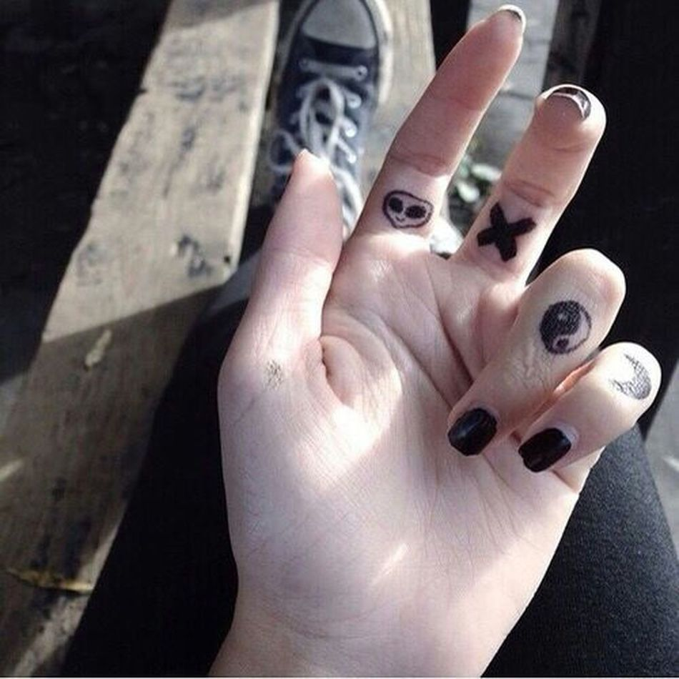 Hand Alian Moon Fingers Black Girl Follow Comment