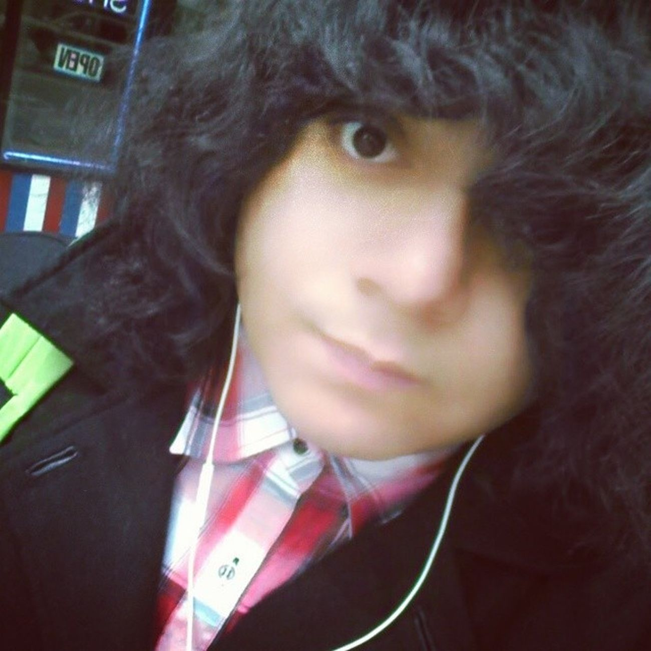 Old random pic. Selfie Randompic Bored Curlycovergirlhair Whenitwascold Whatever