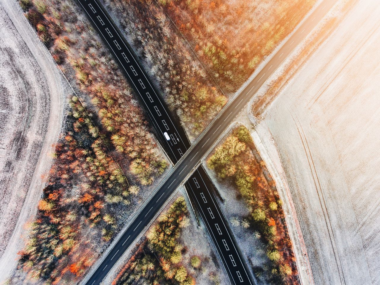 X Dronephotography Drone  Phantom 4 Dji Aerial Aerial Photography Landscape Urban Urban Geometry Epic Winter Frost Snow Sunrise Road First Eyeem Photo The City Light Flying High