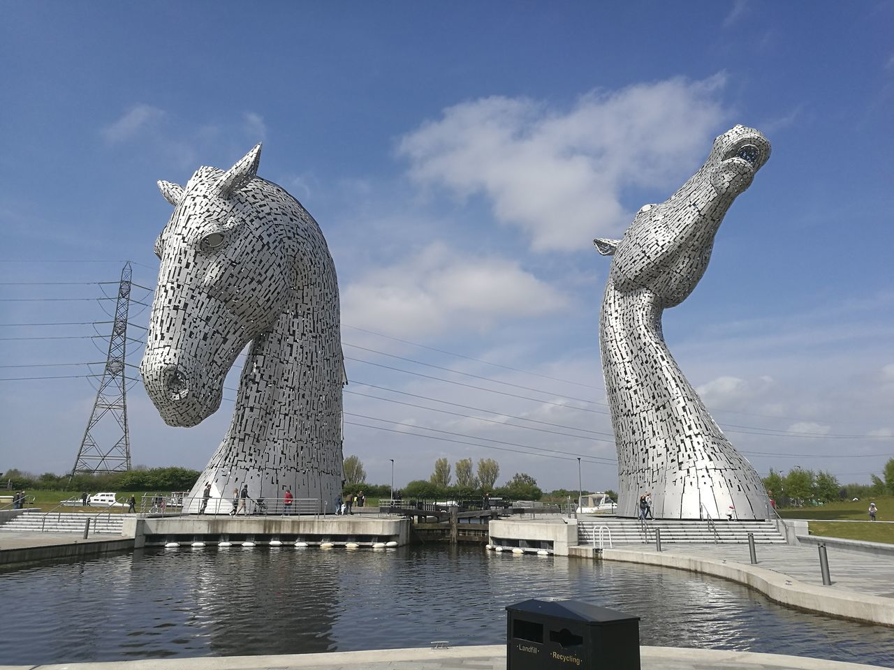 Water Spotted Outdoors Travel Destinations Animals In The Wild Day Animal Wildlife Sky No People Animal Themes Nature Kelpies Of Falkirk