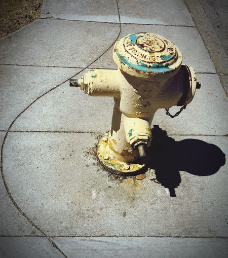 High Angle View Outdoors Sidewalk Fire Hydrant No People Day Close-up Curves And Lines Curves
