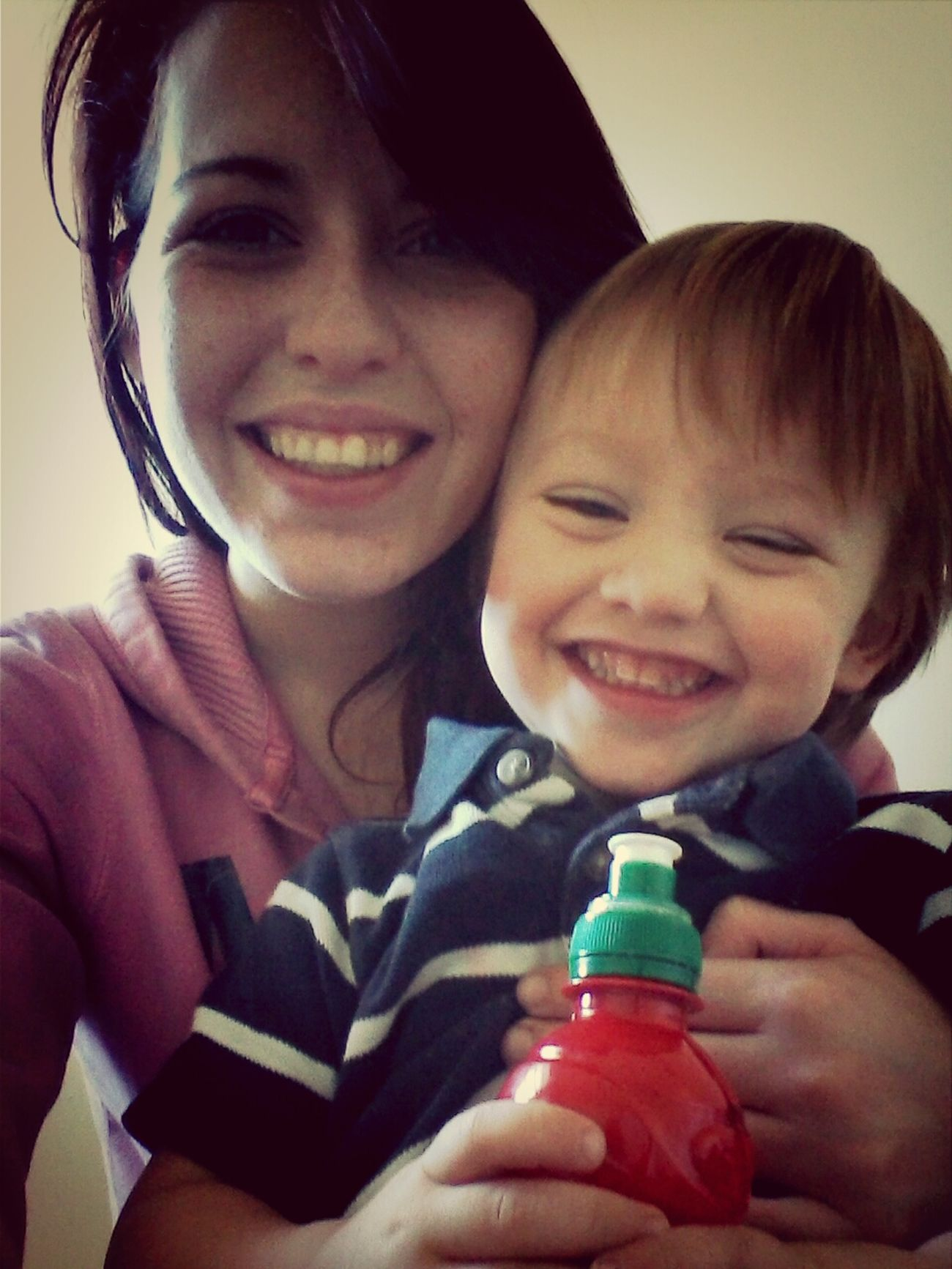 me and my baby boy at our new apartment :) ♡