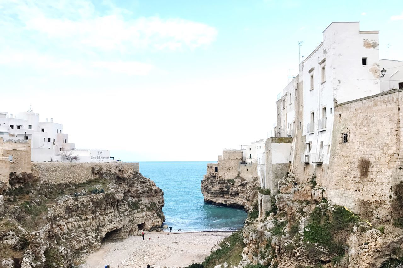 Polignano a Mare 4 Italy Italia Puglia Polignano A Mare Architecture Sea Building Exterior Sky Water Day Outdoors Horizon Over Water No People Nature Fort