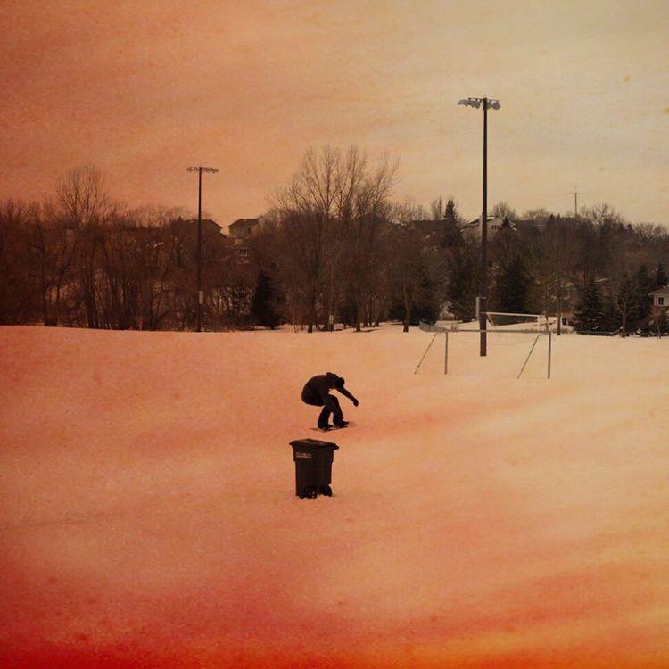 Snowboarding in a local Minnesota park / DIY / Snowboard Anywhere / DIY / Rider: Zak Hale Burton  Burtonsnowboards Blotto