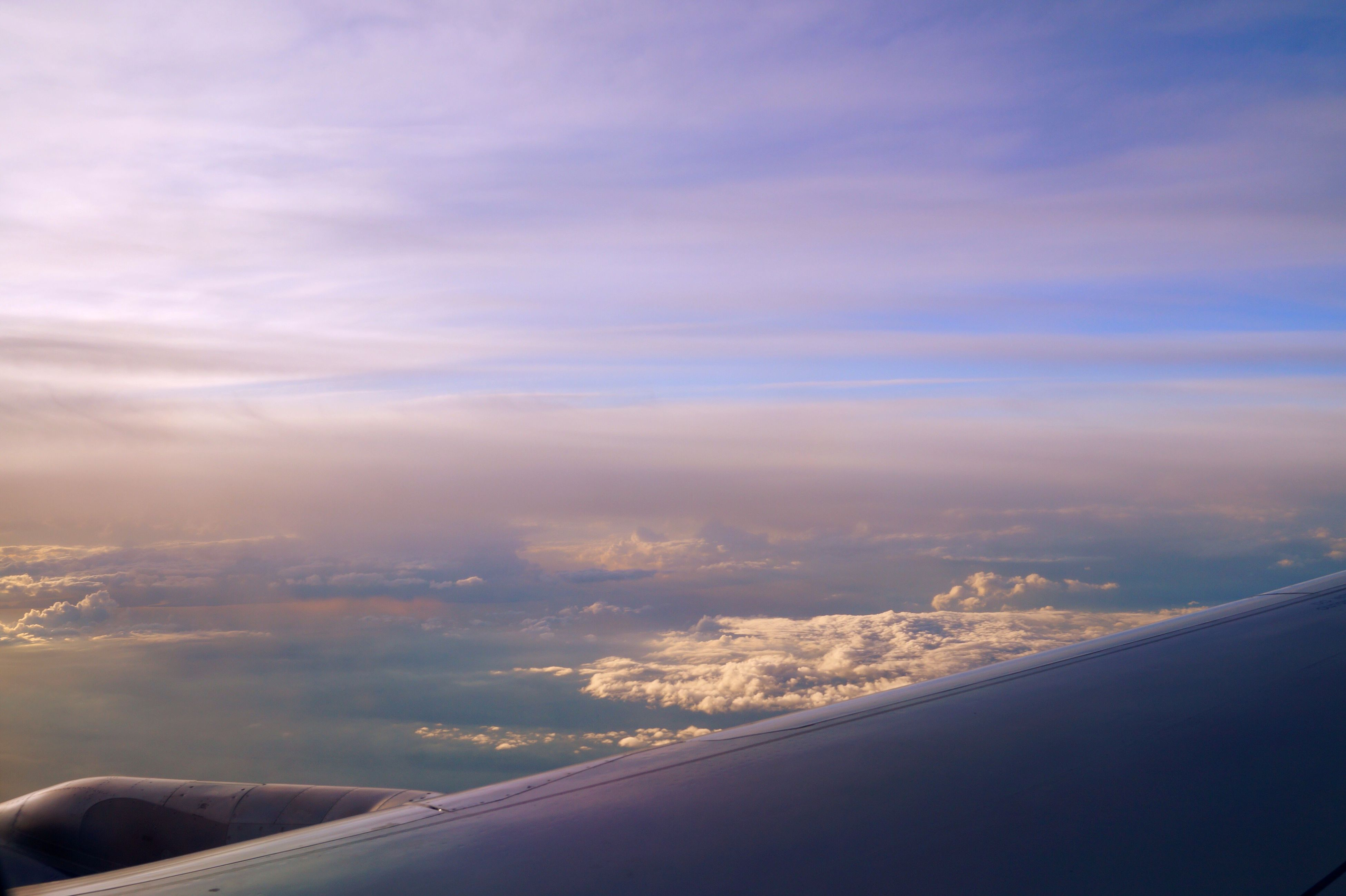 beauty in nature, scenics, aerial view, nature, sky, no people, cloud - sky, tranquility, airplane, tranquil scene, outdoors, landscape, day