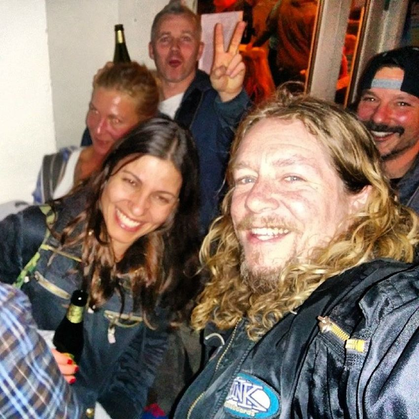 One more from Saturday night in Copenhagen. This was our crew at the @volcom Truetothis premiere. JMag in the back, Will behind me, Ketty to my right....minus the one random lurker on the far left, we all had too much fun that night and this was only the beginning. From here, we walked to the Redfang show where we drank as much beer as the band did in their Prehistoric Dog video and rocked out up front and center in the pit, all night long. Thank you to this crew, @originalbk, the band's video director Whitey, and the tour manager Coyle for a night I won't soon forget. Thankyouskateboarding