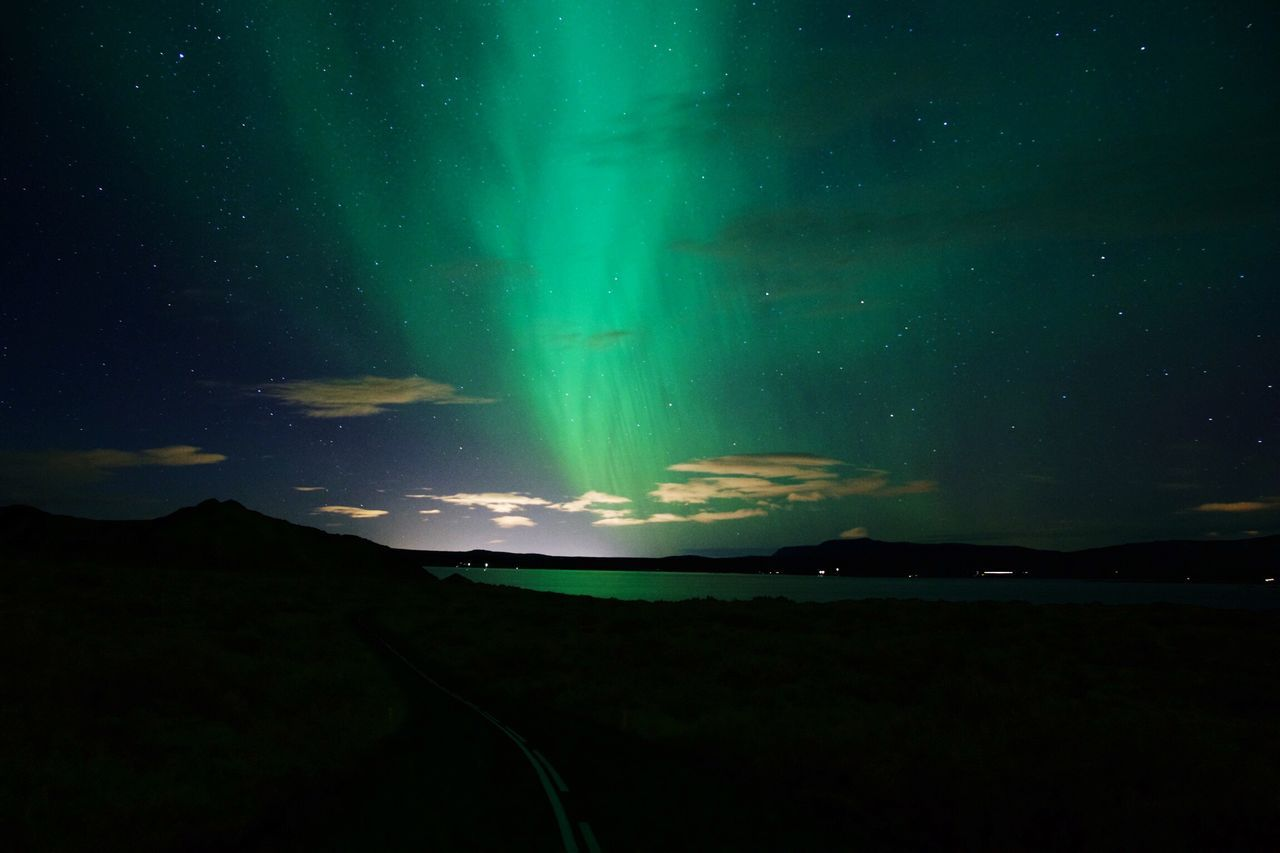 Aurora Borealis in Iceland. Nature Night Landscape Aurora Borealis Iceland Thingvellir National Park Nikon First Eyeem Photo