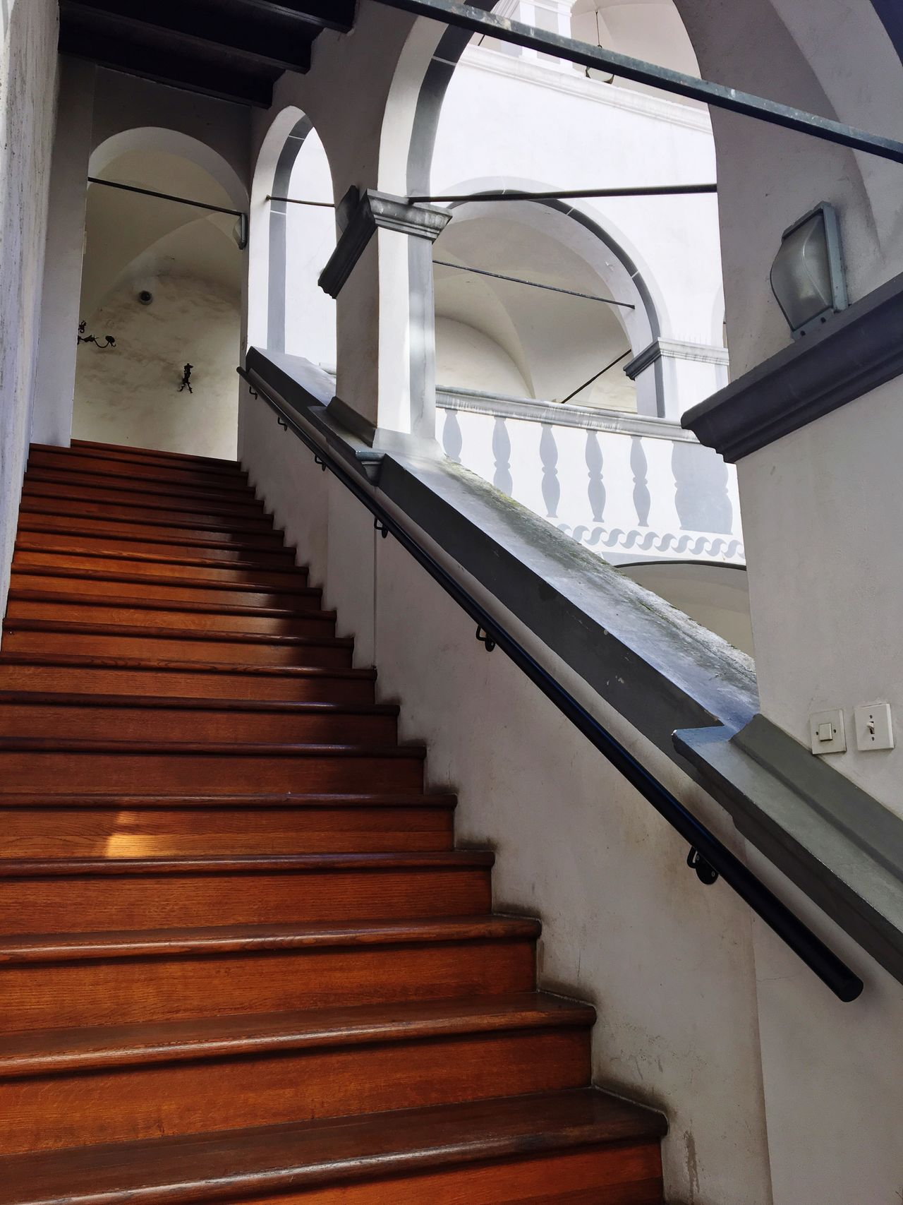 Staircase Steps Steps And Staircases Railing Architecture Built Structure Stairs Indoors  The Way Forward Hand Rail Low Angle View No People Stairway Day