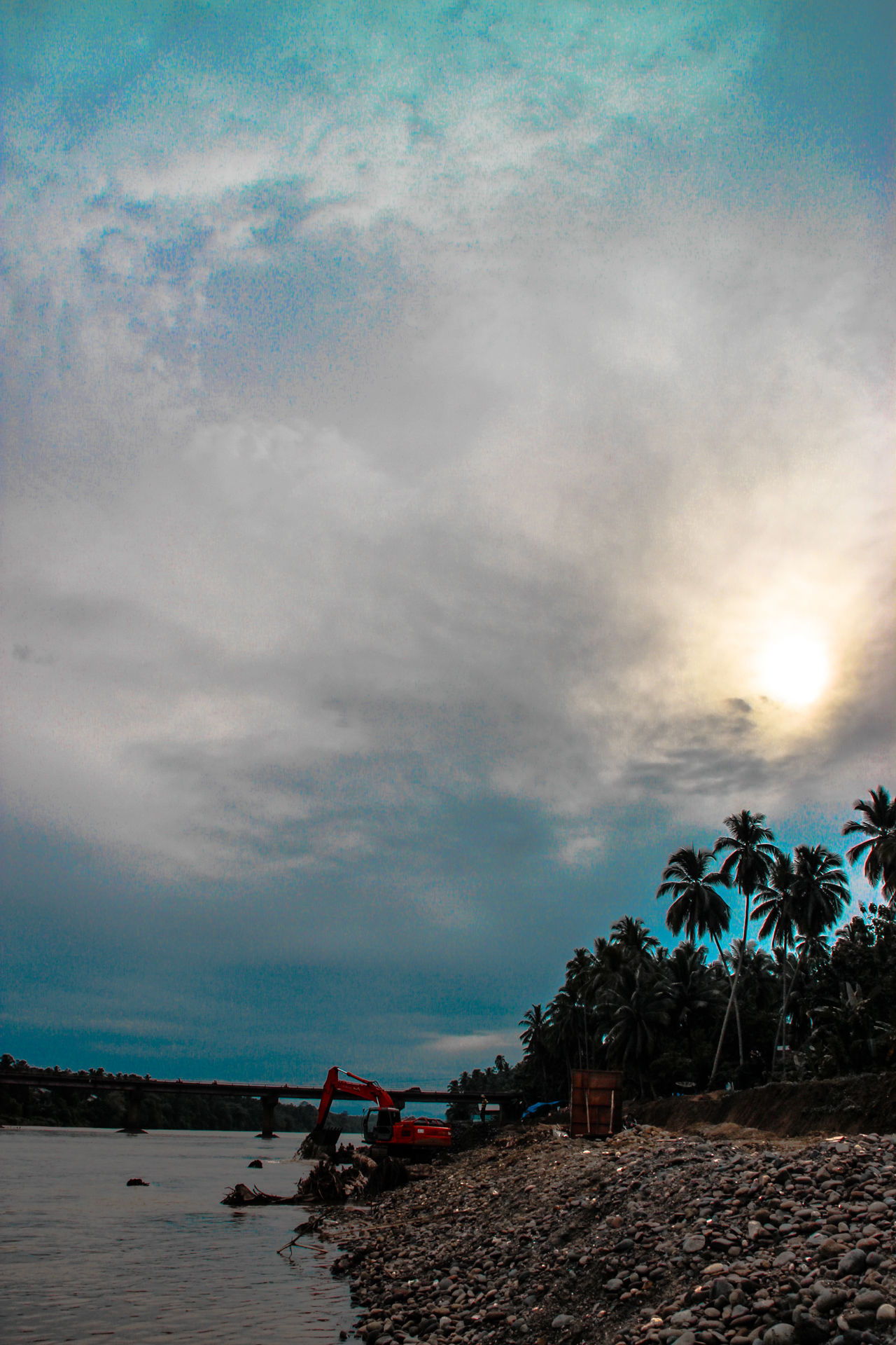 Batang Hari River Landscapes With WhiteWall Dharmasraya,Sungai Dareh Bridge Sumateta Barat Clouds And Sky Variation EyeEm Best Shots - Nature EyeEm Gallery Riverside Photography River View