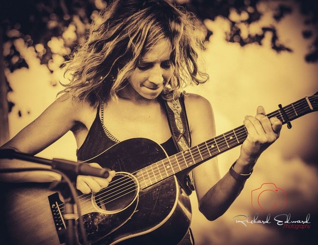 Emily Frantz of the North Carolina acoustic duo Mandolin Orange Music Guitar Acoustic Guitar Musician