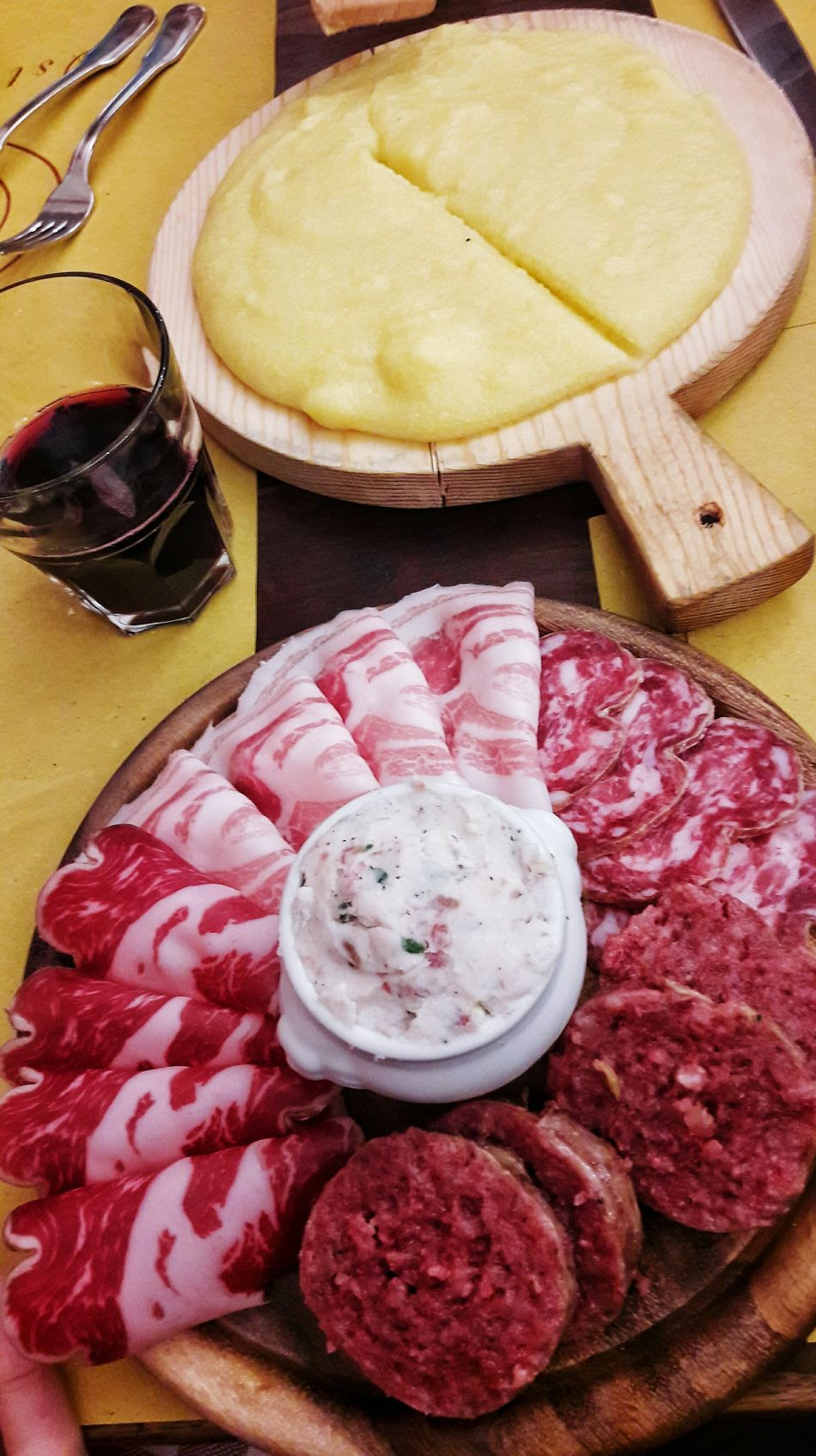 Food Food And Drink Polenta Cotechino ColdCuts Redwine Table Foodlover Wine Moments