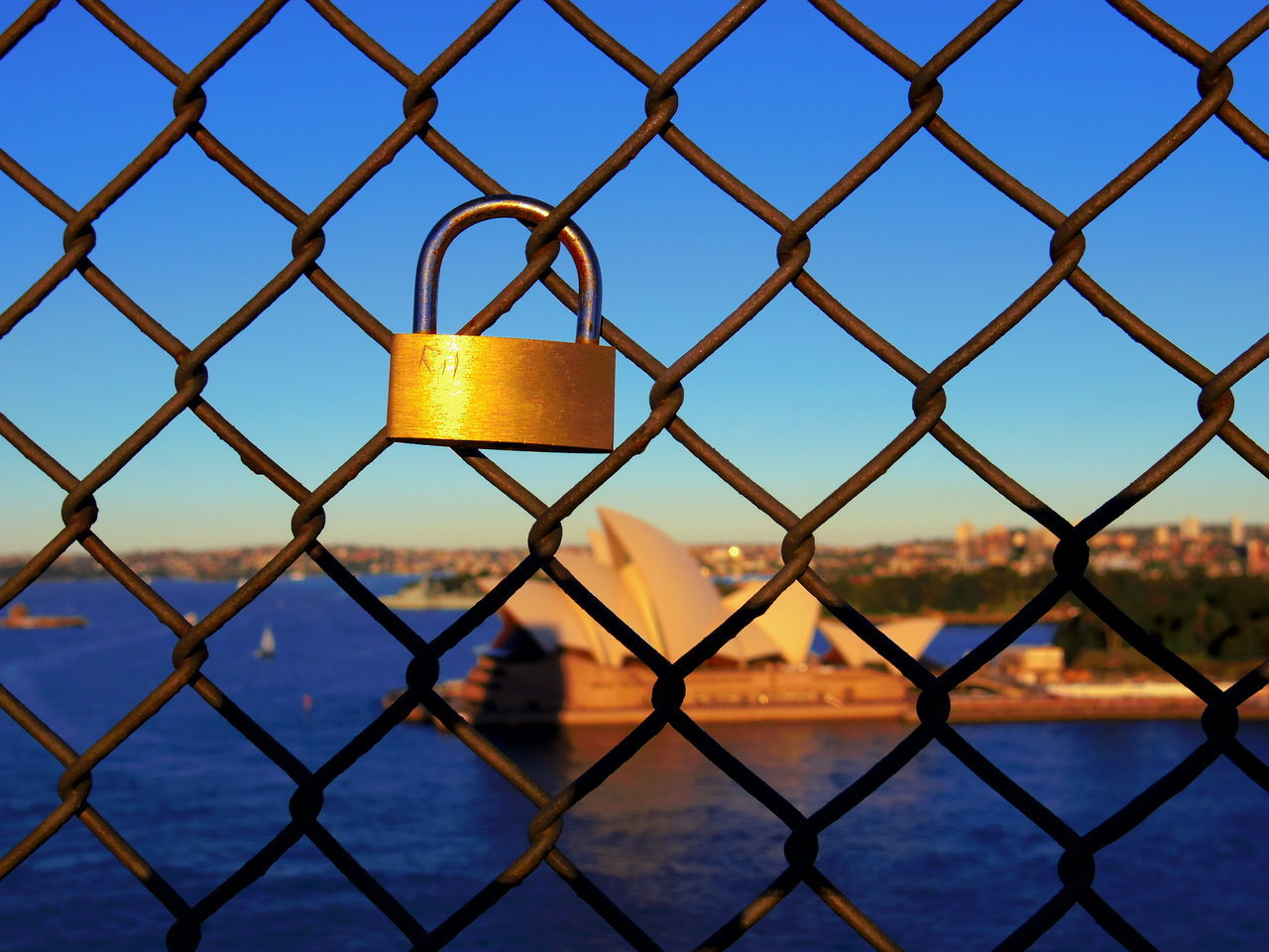 Lock Love Operahouse Sunset Sydney
