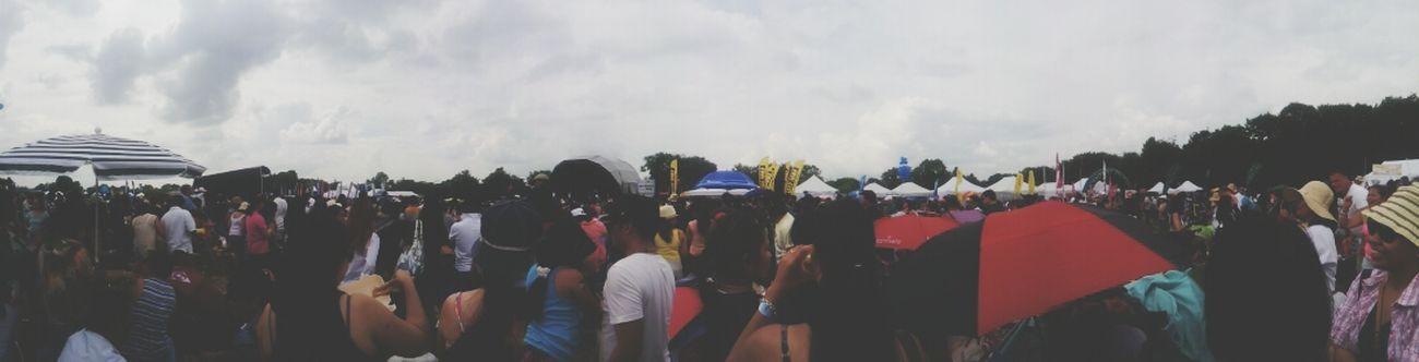 Filipino Barrio fiesta crowd yesterday. Filipino Pride✌ Barrio Fiesta Surrey LONDON❤