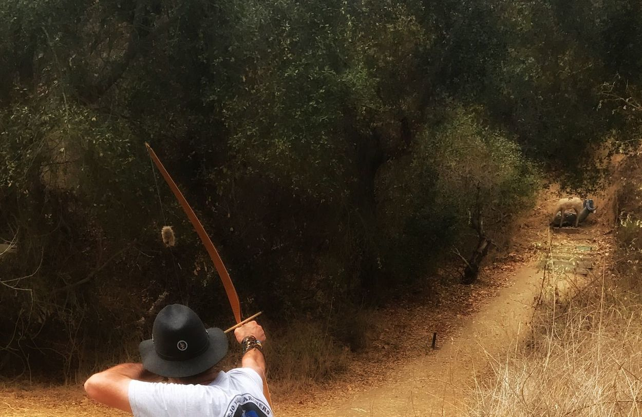 Sighted and prepared! Archer Archery Target Traditional Archery Pasadena  Roving Archers