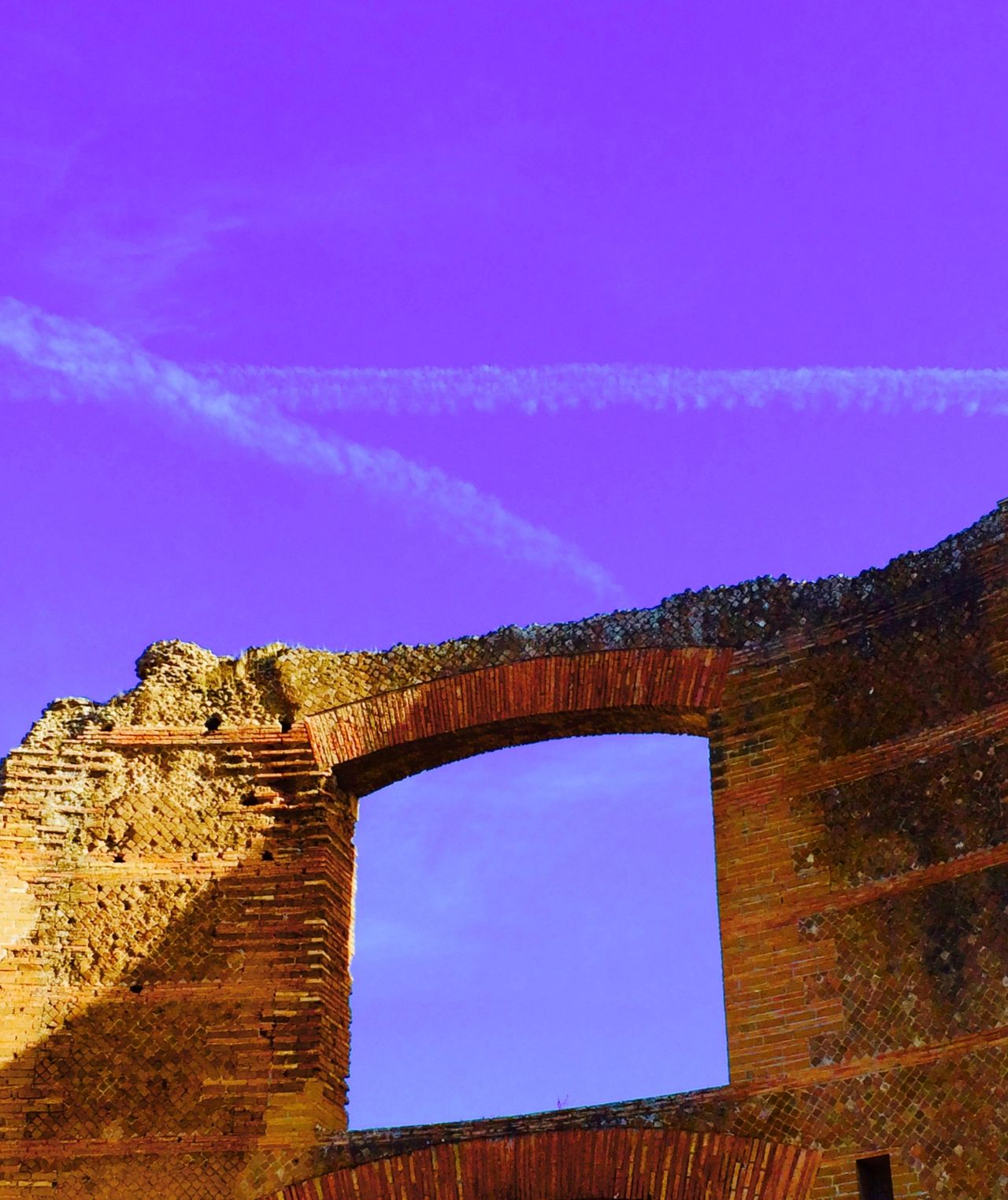 Ancient Civilization Colorsplash Edited Hadrian's Villa History Look Up Old Roma Ruined Skyline Tivoli Villa Adriana Window Of The World  Windows IPhoneography Light And Shadows Pattern, Texture, Shape And Form Ancient Architecture Lookingup UNESCO World Heritage Site World Monuments Watch