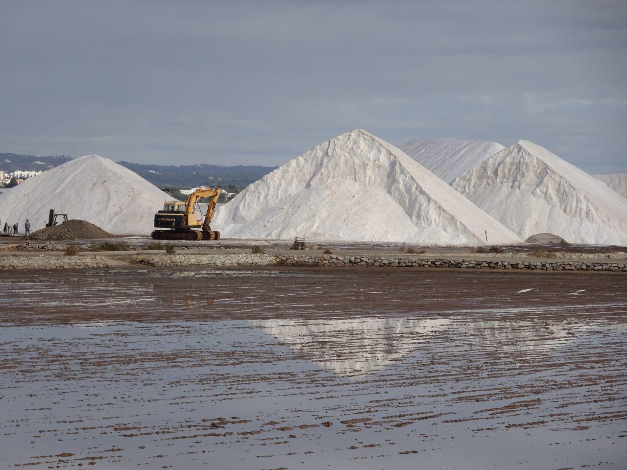 Mining Salt Basin Salt - Mineral Nature Heap Salt Flat No People Sky Day Outdoors Coal Mine Beauty In Nature