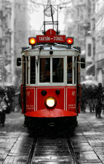 On The Move Tramway Travel Turkey Istanbul TurkiyeIstanbul Turkey Constantinapolis Photo People Red