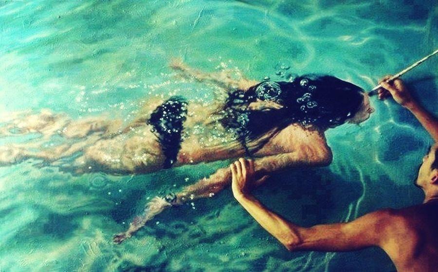 Sick ArtPainting Swimming