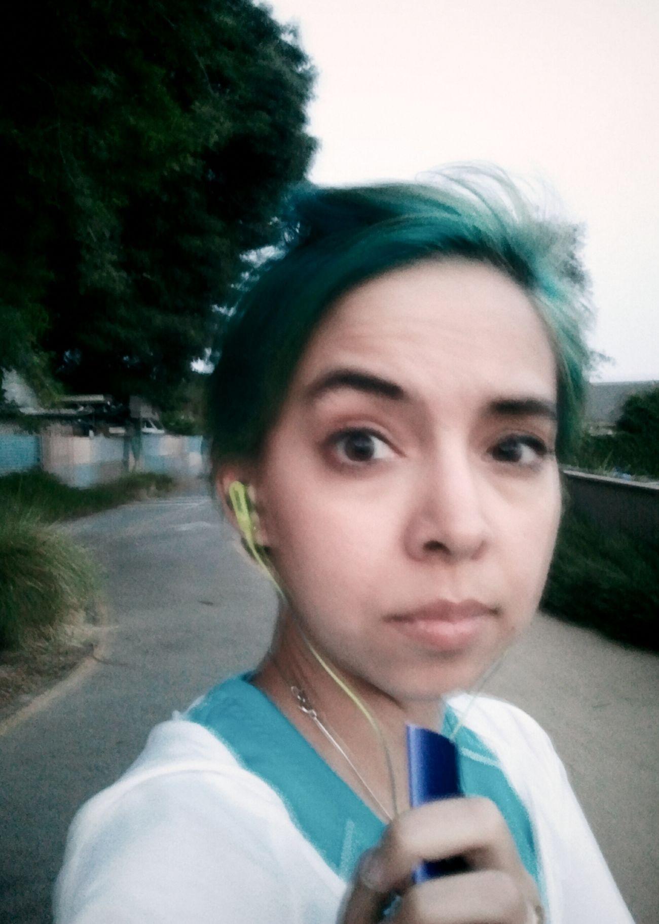 On a run.