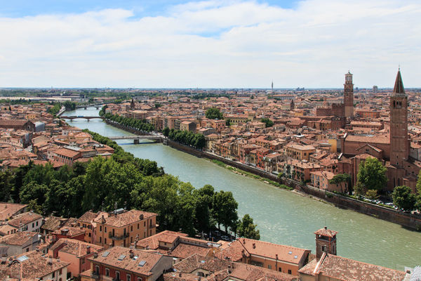 Verona cathedral and ancient Stone Bridge Architecture Arena Bridge - Man Made Structure Building Exterior Built Structure City City City Life Cityscape Cloud - Sky Coluseum Connection Crowded Day High Angle View Italy Residential Building Residential District River Romeo And Juliet Roof Sky Travel Destinations Verona Water