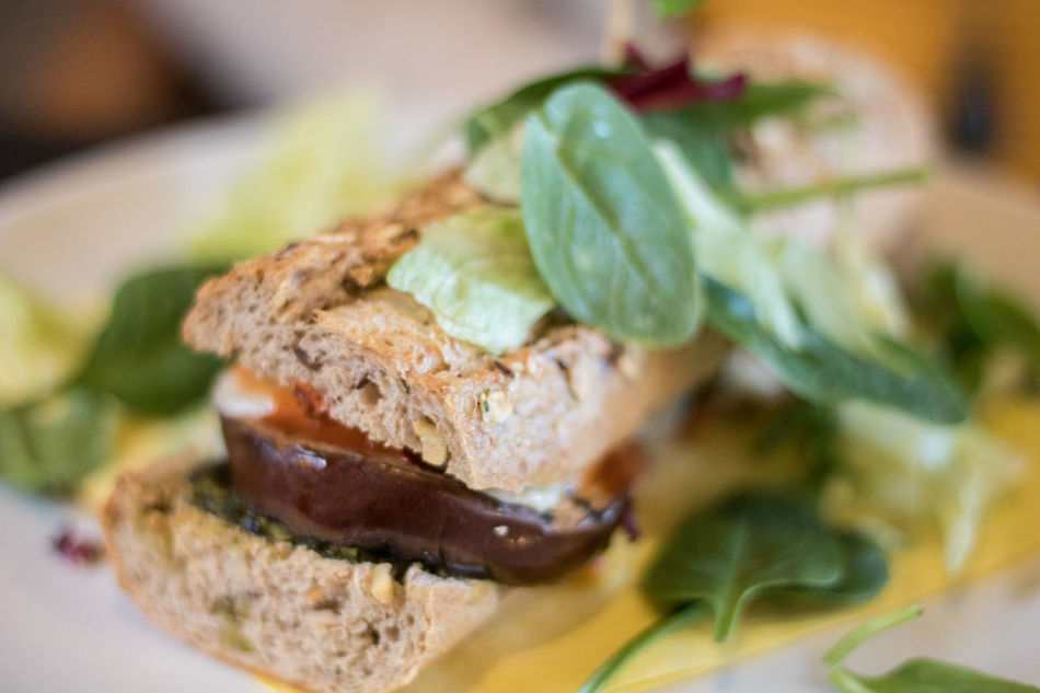 Close-up No People Nature Day Indoors  Vegan Vegetable Muzzarella Bocatta Eggplant Sandwiches Lunch Food Styling Temptation Serving Size Freshness Ready-to-eat Food And Drink Healthy Indulgence Plate Healthy Eating Hungry Gourmet Appetizer