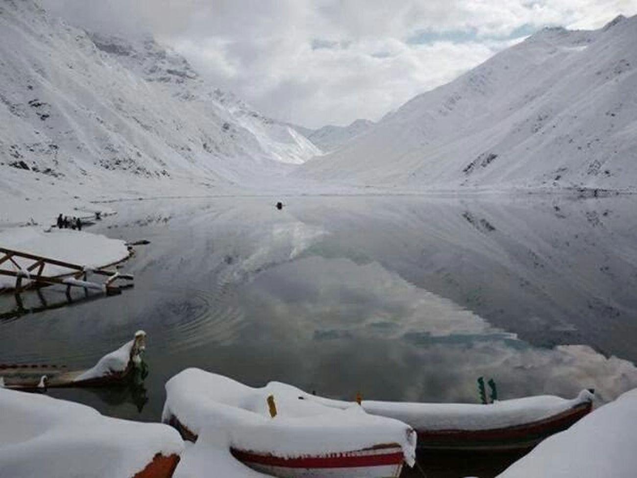 Naran Valley Lake Saif Ul Muluk Winterscapes Beauty White Mountains Beautiful Pakistan