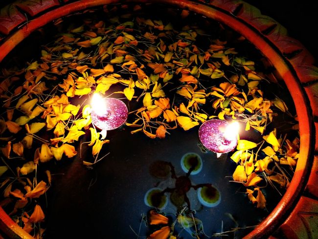 Diwalitime Surrounded by Lights And Flowers In Water Beautifulmoment Taken From Samsung Galaxy S3 Diwali 2015 Indianess Indian Festival Festival Of Lights