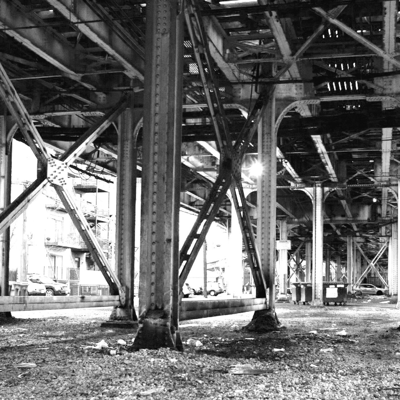 Under the El tracks. Chicago Chicago El El Tracks Train Train Tracks Blackandwhite Canon Canon6d