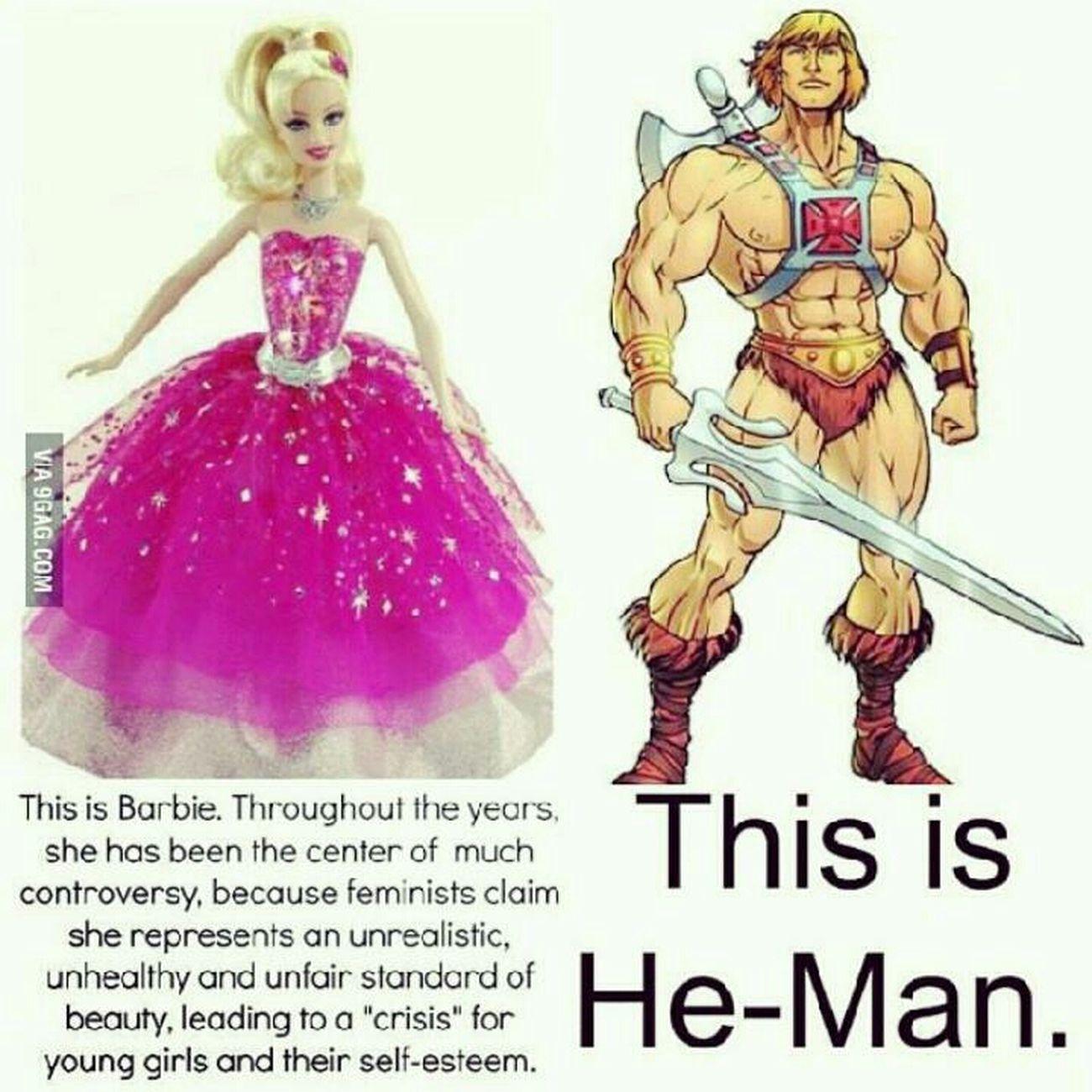Haha LOL Barbie Girl Heman Ironic  Love This