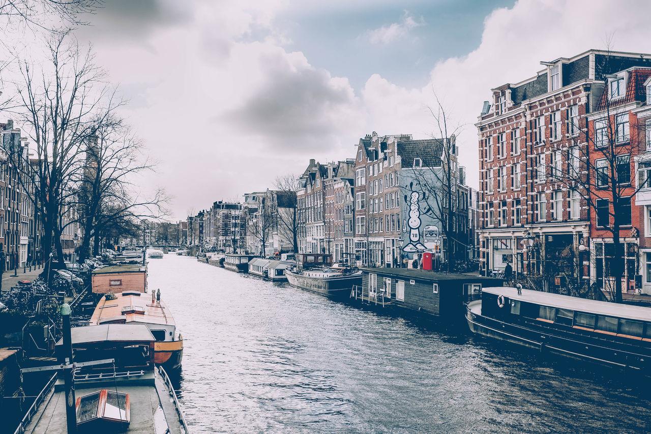 Amsterdam Architecture Blackandwhite Building Building Exterior Canal City Colours Follow Follow4follow Followme Fujifilm_xseries Half Sky Street Streetart Streetphotography Water Your Amsterdam Jordaan Street Art